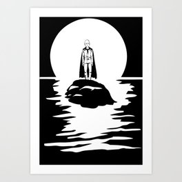 Saitama Face One Punch Man T-Shirt Anime River Moon One Piece Death Note Tokyo Ghoul Renamon Art Print
