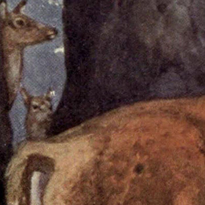 Vintage Red Deer Painting (1909) Leggings