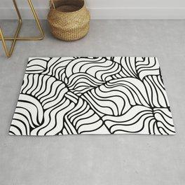 Black & White Tropical Rug