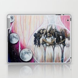Sister Circle // Women Feminism Feminist Sisterhood Goddess Earth Moon Unity Peace Love Power Energy Laptop & iPad Skin