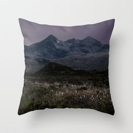 Mountains of Scotland at evening Throw Pillow