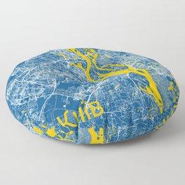 Kiev, Ukraine street map Floor Pillow