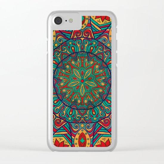 Tribal Mandala Clear iPhone Case