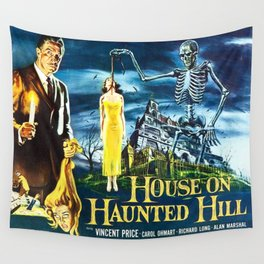 House on Haunted Hill, vintage horror movie poster Wall Tapestry