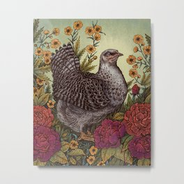 Rose Hen Metal Print