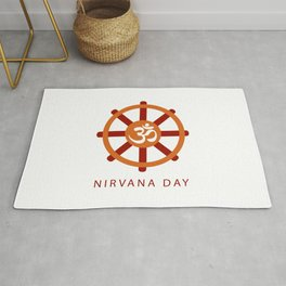 Buddhist celebration of Nirvana Day- A day which means Enlightenment after death, Enlightenment without remainder, Enlightenment without residue Rug