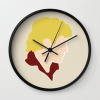 enjolras Wall Clocks featuring Enjolras by Swell Dame
