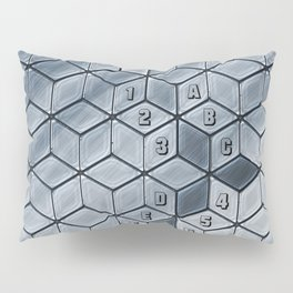 Soft gradient cubes in grey tones Pillow Sham