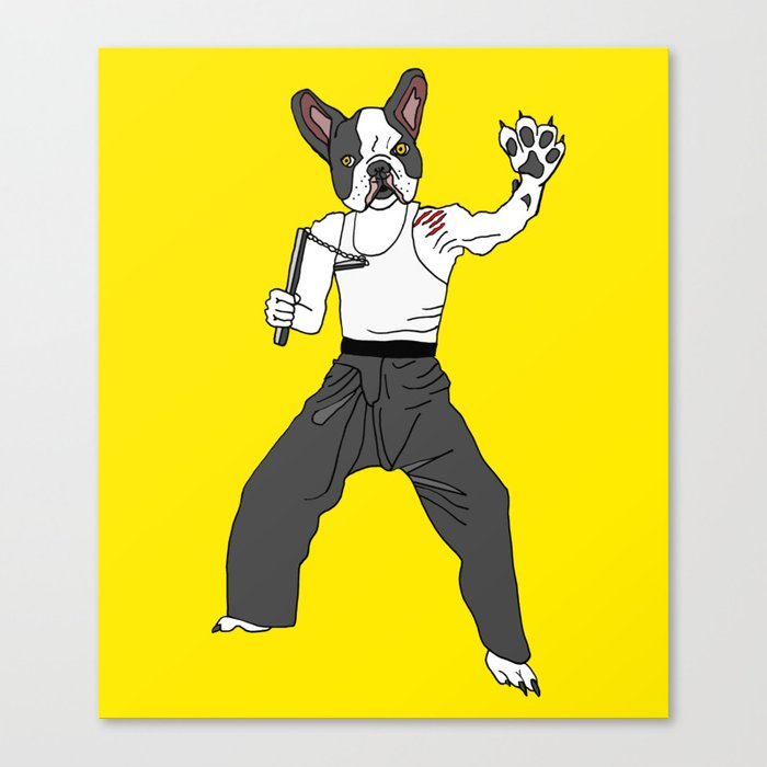 Kungfu Bulldog Lee Canvas Print