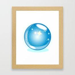 Christmas Star Globe Framed Art Print
