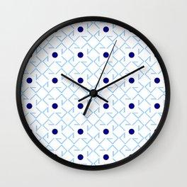 Antic pattern 9- from LBK blue Wall Clock