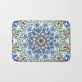Kaleidoscope No. 3 - Blue Bath Mat