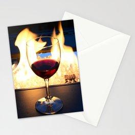 Fireside Wine II Stationery Cards