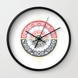 Pokeball Mandala Wall Clock