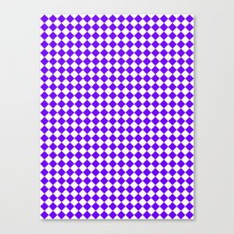 White and Indigo Violet Diamonds Canvas Print