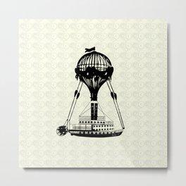 Airship Love Craft Metal Print