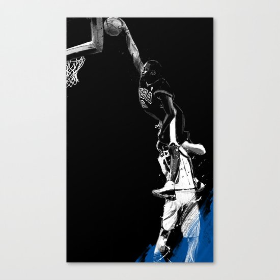 Vince Carter Olympic Dunk Canvas Print