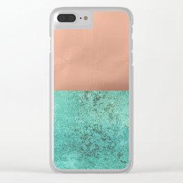 NEW EMOTIONS - ROSE & TEAL Clear iPhone Case