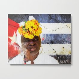 Smoking #3 - Caribbean Serie Metal Print