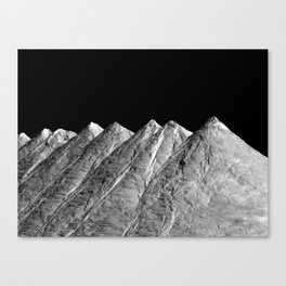 Salt Mountains Canvas Print