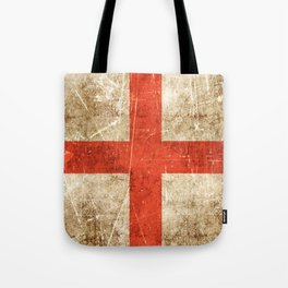 Vintage Aged and Scratched English Flag Tote Bag