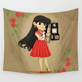 Retro Sailor Mars Wall Tapestry