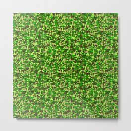 Colourful triangular mosaic in the nuance of green Metal Print