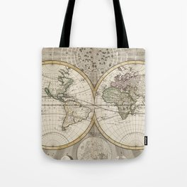 Vintage Map of The World (1687) Tote Bag