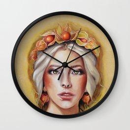 Herbst Mädchen Wall Clock