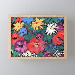 Redon floral Framed Mini Art Print