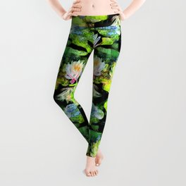 Eight Waterlilies Leggings