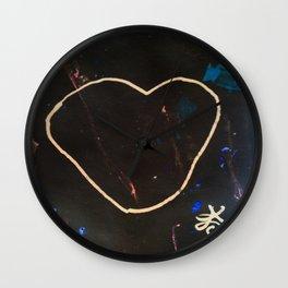 Heart Valentine. Be Mine. Literally. Wall Clock