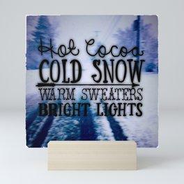 Winter love Mini Art Print