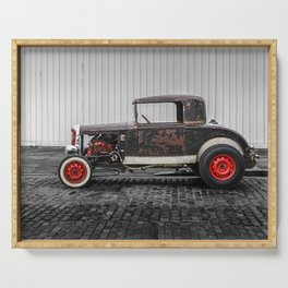 Rat Rod Black and Red Serving Tray