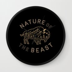 Nature of the Beast Wall Clock