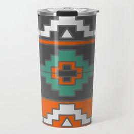 Tribal geometric adornment Travel Mug