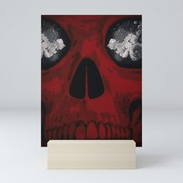 Skull and Flowers Mini Art Print