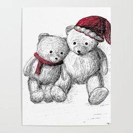 Bear: Merry Christmas Poster