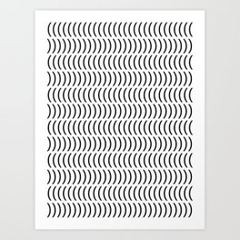 Smiley Small B&W Art Print