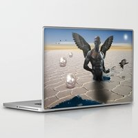 angel Laptop & iPad Skins featuring angel  by mark ashkenazi