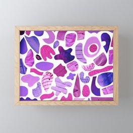 purple blue collage Framed Mini Art Print