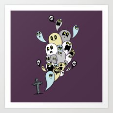 Spooky Ghosts Art Print
