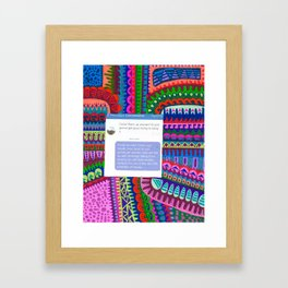 Cover Up- Put Him In His Place Framed Art Print