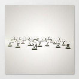 Typography Jars Canvas Print
