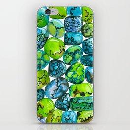 Turquoise pattern iPhone Skin
