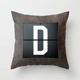 monogram schedule d Throw Pillow