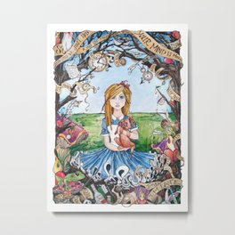 Just Ask Alice ..... Metal Print