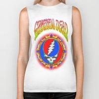 grateful dead Biker Tanks featuring Grateful Dead #8 Optical Illusion Psychedelic Design by CAP Artwork & Design