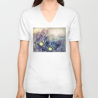 kitty V-neck T-shirts featuring Kitty by jbjart