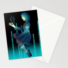 Techno witch Stationery Cards